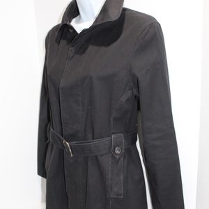 APC Paris Trench Coat Raincoat Black mini trench